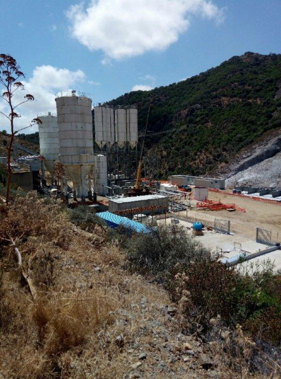 Installazione impianto betonaggio_vista su cantiere